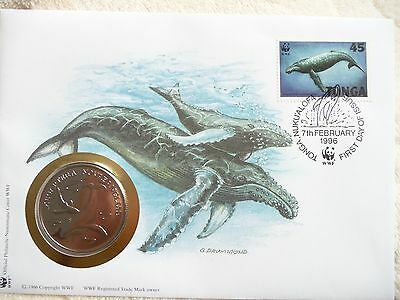WWF First Day Cover 30 years with Medallion  Humpback Whale