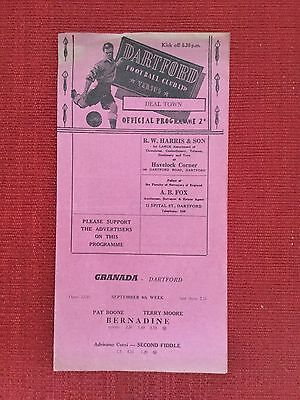 Dartford v Deal Town FA Cup Replay, 11th September 1957