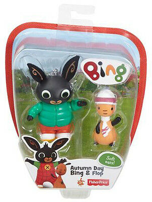 Fisher Price Bing Bunny Autumn Day Bing & Flop With Soft Ears Brand New Chf23