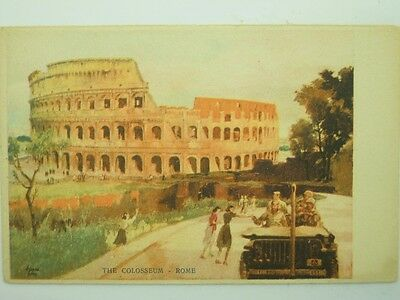 Military U.s. Army Ww2 Allies In Italy-Rome-Artist Signed-Vs9-S55966