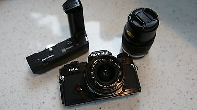 Professional  Olympus OM-4 Film Camera with 28mm  - tested in Full Working Order