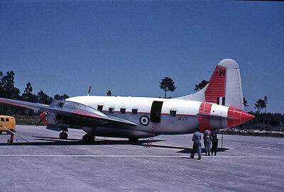 Original 35mm Aircraft Slide 1960/70s  WF370 Vickers Varsity T1.