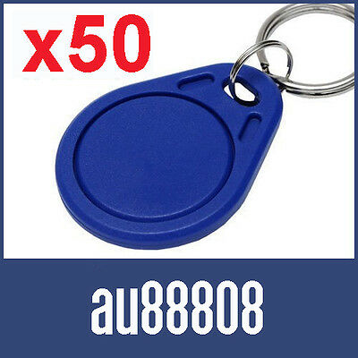 50 x UID CHANGEABLE WRITEABLE MF CLASSIC 1K S50 FOB ACR122U TAG IC 14443 14443A