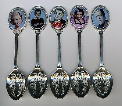 The Munsters 5 Silver Plated Spoons Featuring The Munsters