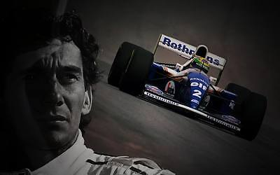 Ayrton Senna LARGE Canvas 30x20 Williams Inch Framed Picture F1 Formula One