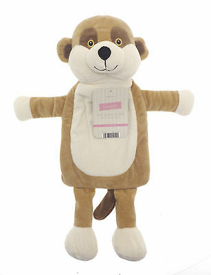 Country Club Hot Water Bottle with Meerkat Cover Cosy Warm Plush Kids Child Cute