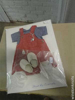 Vintage Sasha Complete Red Pinafore Outfit