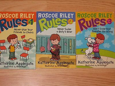LOT of 2: Roscoe Riley Rules by Katerine Applegate #1 & #2 Paperback BOOKS