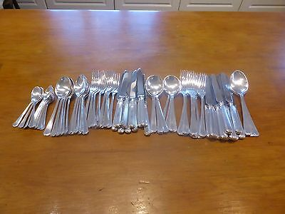 """Silver Plated 88 piece MAPPIN & WEBB """"GRECIAN"""" CANTEEN/CUTLERY SET for 12"""