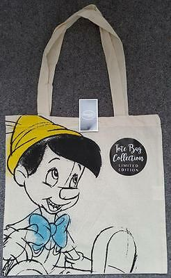 Limited Edition, Canvas, Pinocchio, Tote Bag, Disney, New/tagged