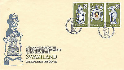 Swaziland 2 June 1978 Hm The Queen Coronation First Day Cover Shs