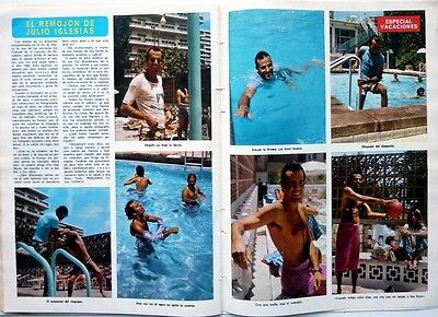 JULIO IGLESIAS => 2 pages 1973 Spanish CLIPPING !!! COUPURE DE PRESSE ESPAGNOLE