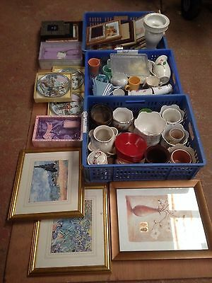 Picture Frames, Job Lot Car Boot Items,Ornamental Plates