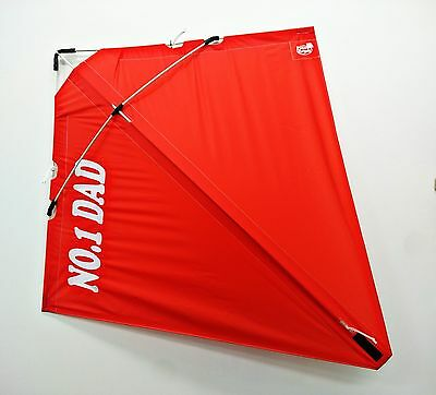 NO.1 DAD PETER POWELL Dual Line Stunt Kite RED - Outdoor Sport Personalised Gift