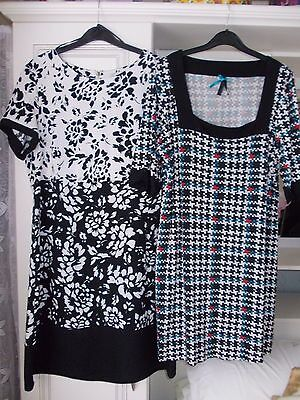 Pack of 2 tunic dresses, Next & George. Size 16.