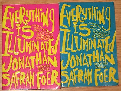 Lot of 2: Everything is Illuminated by Jonathan Safran Foer Paperback BOOKs