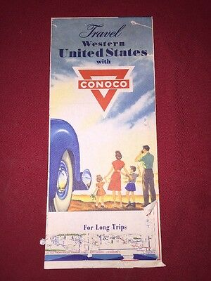 Conoco Gas And Oil Company Road Map Western United States