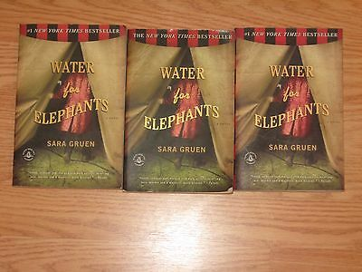 Lot of 3 Water for Elephants by Sara Gruen Paperback Books