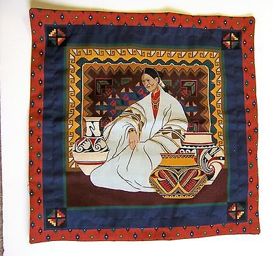 "Native American ~ Pueblo Lady Square 15 Inch Envelope Cover 12""  Pillow Cover"