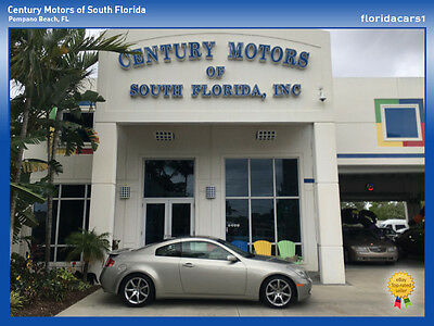 2004 Infiniti G35 Base Coupe 2-Door 2004 Infinity G35 Coupe 2 Door 3.5L V6 LOW MILES CARFAX NO ACCIDENT