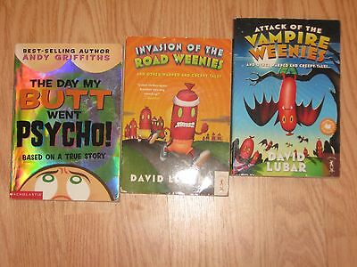 Mixed Lot of 3: Weenies & Psycho by David Lubar & Andy Griffiths Paperback BOOKS