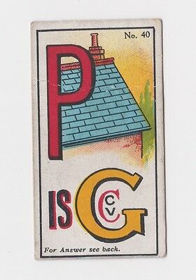 Rare 100 Year Old Sinclair Picture Puzzles & Riddles  Type Card