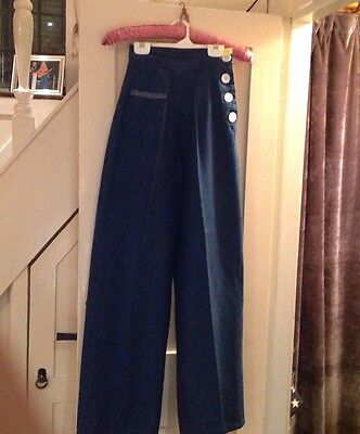 Vivien of Holloway 1940's,1950's style jeans, swing trouser