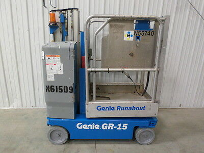 2008 Genie Gr-15 Personal Runabout Aerial Work Platform Gr20 Single Man Lift