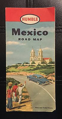 Humble Oil Mexico Road Map 1952