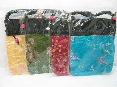 10 New Silk Mini Handbag Gift Bag Mixed Color