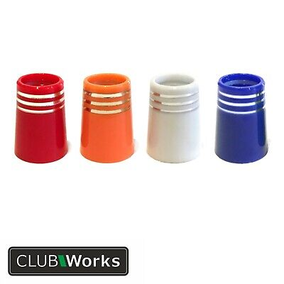 """Premium Golf club ferrules - 5 colours with triple chrome rings-  .355"""" irons"""