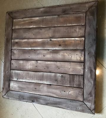 Reclaimed WOOD Table Top 30X30 Urban Rustic Restaurant Modern Authentic