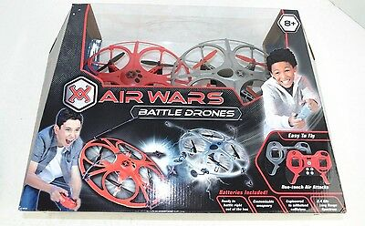 Air Wars BATTLE DRONES 2-Pack  Remote Control 2.4 GHz- NEW