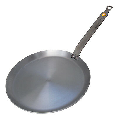 De Buyer Mineral B Element Iron Pancake Crepe Pan 26cm All Hobs Induction New