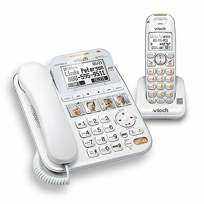 Vtech CareLine Corded/Cordless DECT 6.0 Phone with Big Button, Caller ID SN6147