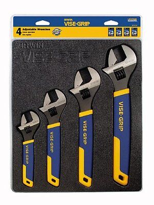 Irwin Tools 2078706 4-Piece Vise-Grip Adjustable Wrench Tray Set