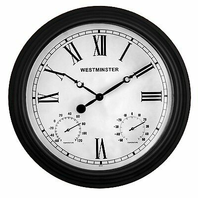 Luster Leaf 20051 Coventry Outdoor/Indoor Clock 15 Inches