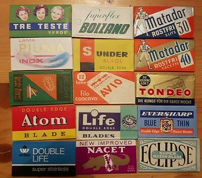 15 Collectable Razor Blades with Wrappers