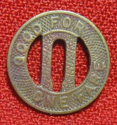 Connecticut Company Good For One Fare Token
