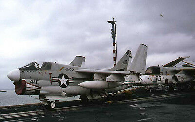 Original 35mm Aircraft Slide 410AB A7E VA72 USS America Sept82