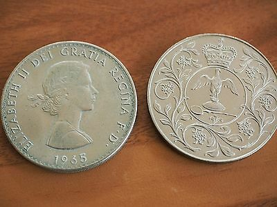 Two Queen Elizabeth Commemorative Coins (1965 and 1977)