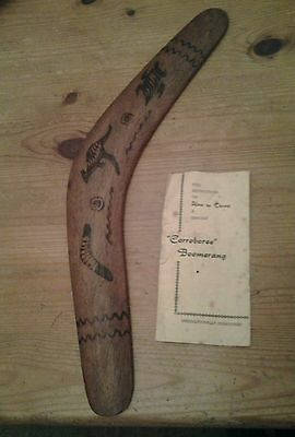 Vintage boomerang. With original instructions