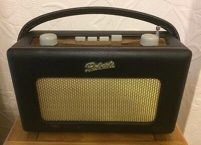 Vintage Roberts R250 Revival FM/AM/LW Battery Mains Radio With Adapter Blue
