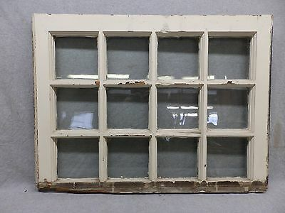 Antique 12 Lite Window Sash Shabby Vintage Old Chic Cottage 192-17R
