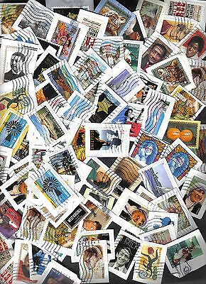 500+ Used United States Commemorative Stamps, Recent, On Paper
