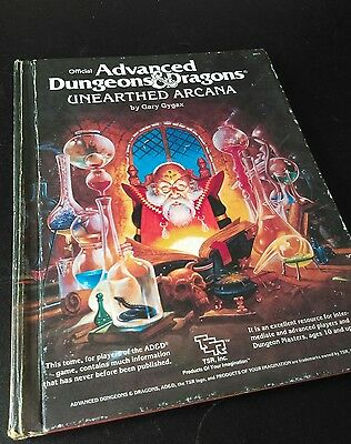 advanced dungeons and dragons unearthed arcana, tsr 1985
