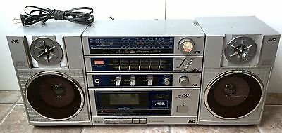 Vintage JVC BoomBox Ghetto Blaster PC-150 Cassette Tape Player TESTED WORKING