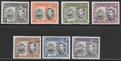 GRENADA 1937-1942 George VI Seal of the Colony Mint Issues Selection (Feb 0106)