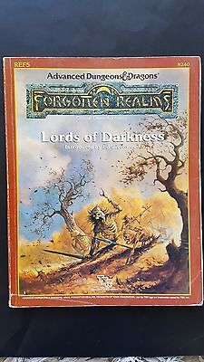 """AD&D """"LORDS Of DARKNESS """" FORGOTTEN REALMS TSR # 9240 REF5 1988 GOOD  COPY"""