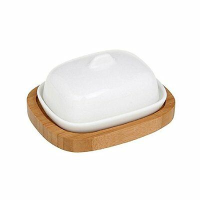 Small butter dish, with bamboo base. New. Boxed. Unwanted gift.